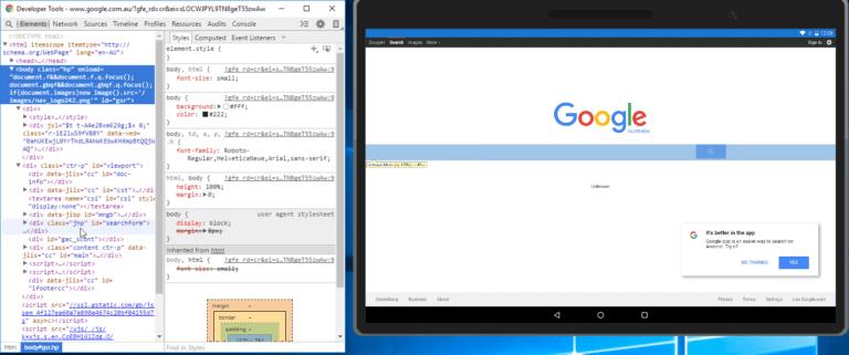 Инспектирование WebView в Chrome