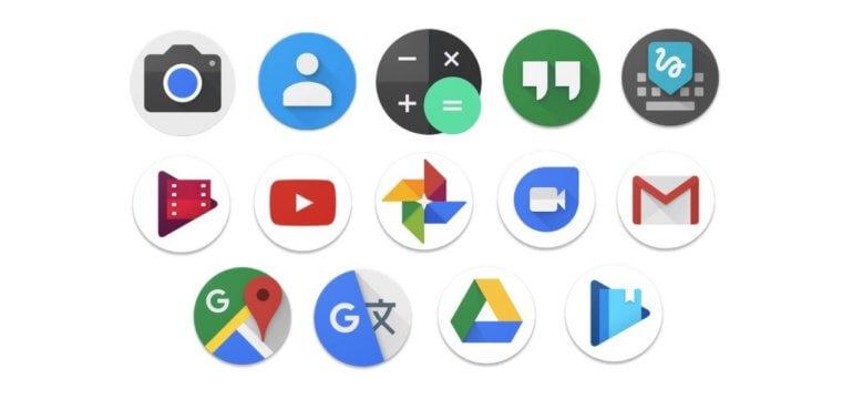 Pixel Launcher круглые иконки