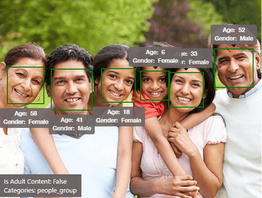 Cognitive Services API Vision